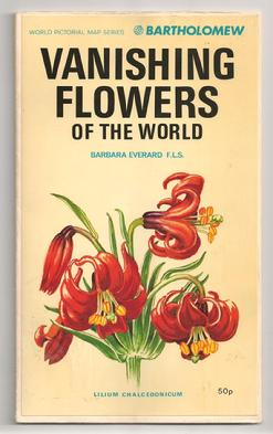 Map of Vanishing Flowers of the World illustrated by Barbara Eerard